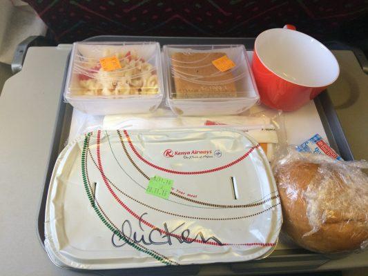 Nourriture en avion